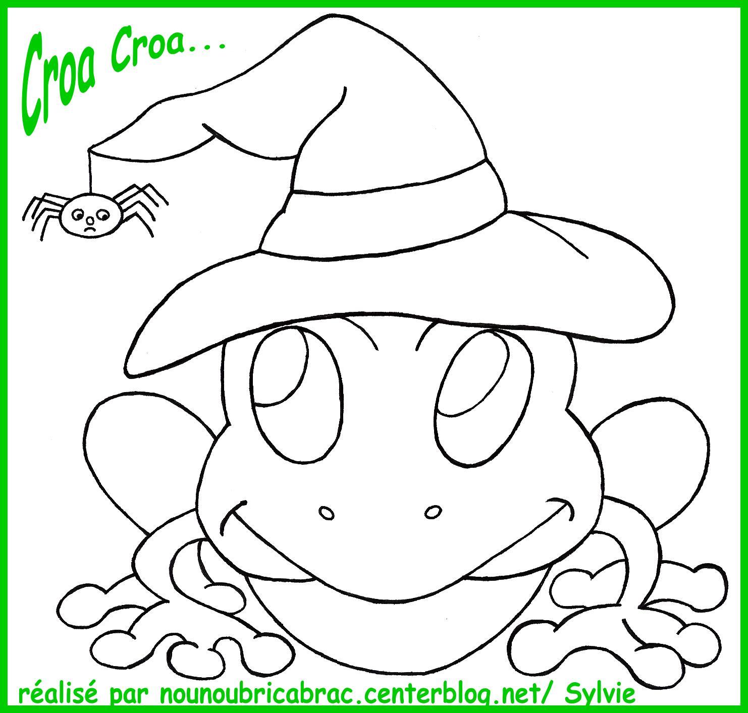 Grenouille centerblog - Coloriage de grenouille ...